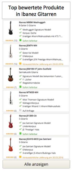 Top bewertete Produkte in Ibanez Gitarrren