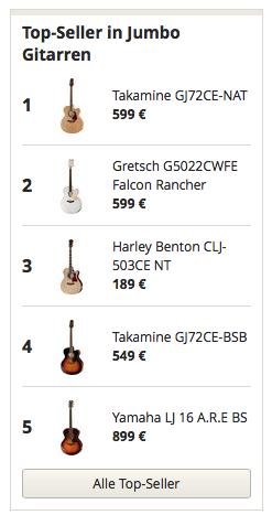 Topseller in Jumbo Gitarren
