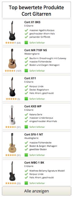 Top bewertete Cort Gitarren