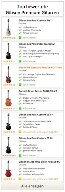 Gibson Premium Gitarren