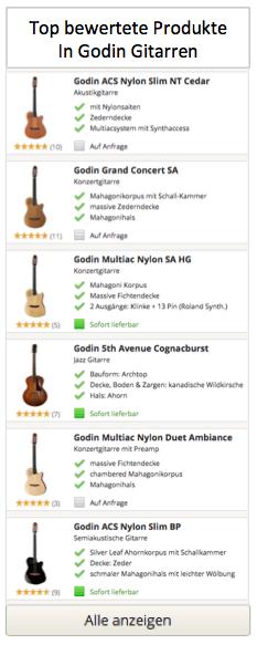 Top bewertete Godin Gitarren