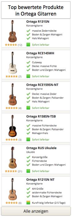 Top Ortega Gitarren