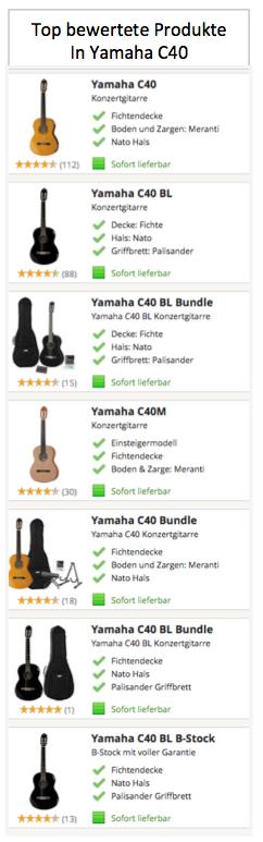 Top bewertete Produkte in Yamaha C40