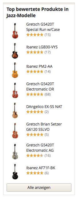 Top bewertete Produkte in Jazz Gitarren