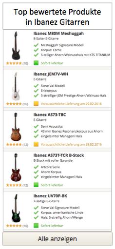 Top bewertete Produkte in Ibanez Gitarren