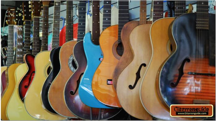 Gitarren Auswahl