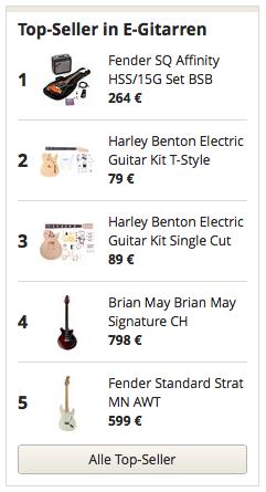 Top Seller in E-Gitarren