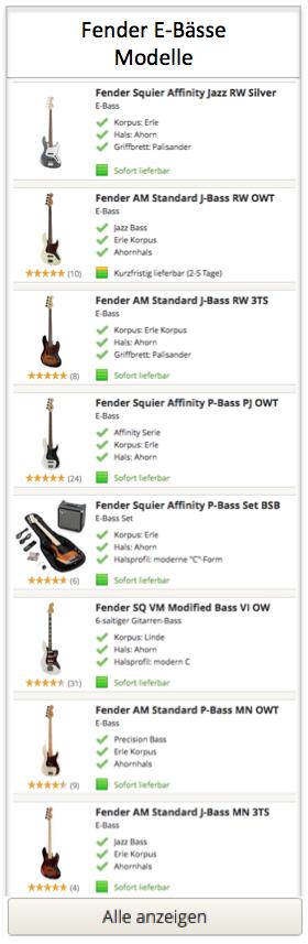 Fender E-Baesse