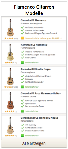 Flamenco Gitarren Modelle