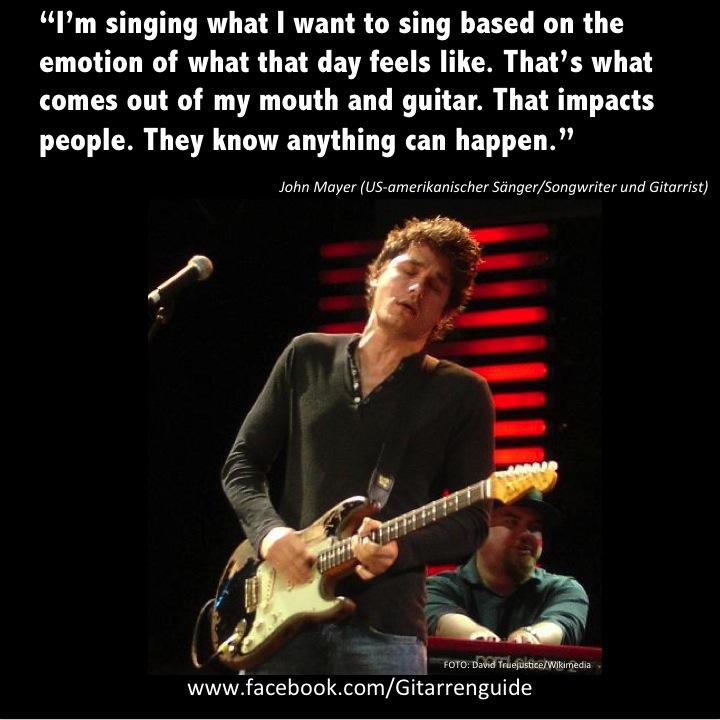 Gitarrenzitat von John Mayer