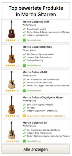 Top bewertete Produkte in Martin Gitarren