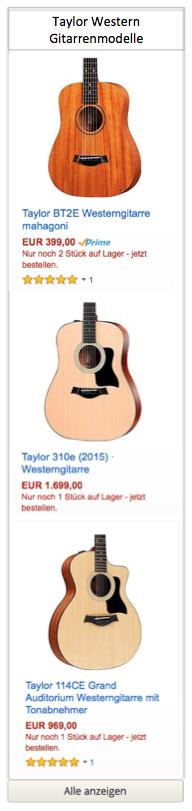 Taylor Western Gitarren