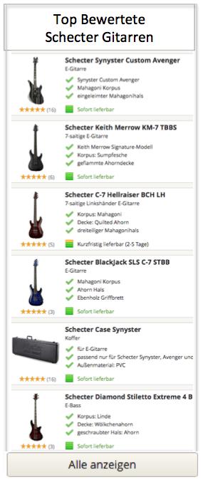 Top Bewertete Shecter Gitarren