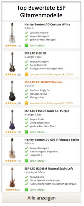 TOP ESP Gitarren