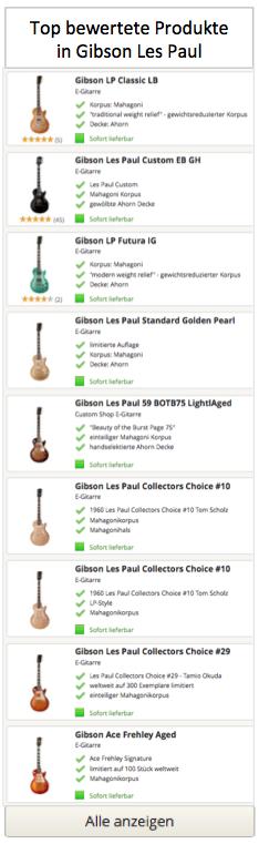Top bewertete Gibson les Paul