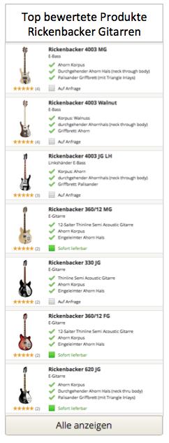 Top bewertete Riekenbacker Modelle
