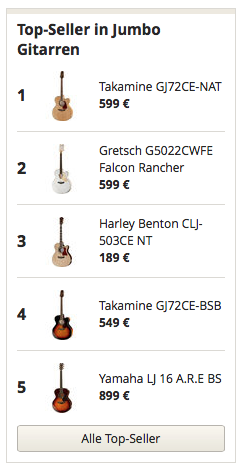 Top Seller in Jumbo Gitarren