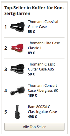 Topseller in Koffer Konzertgitarren