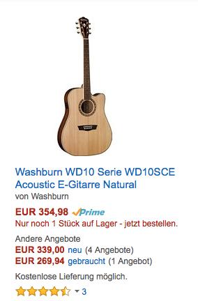 Waschburn Gitarre