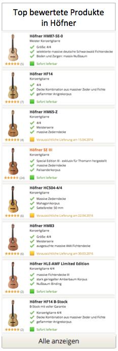 Top Höfner Gitarren