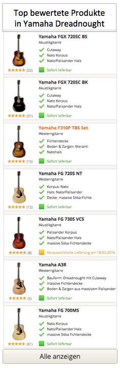 Top bewertete Produkte in Yamaha Dreadnought
