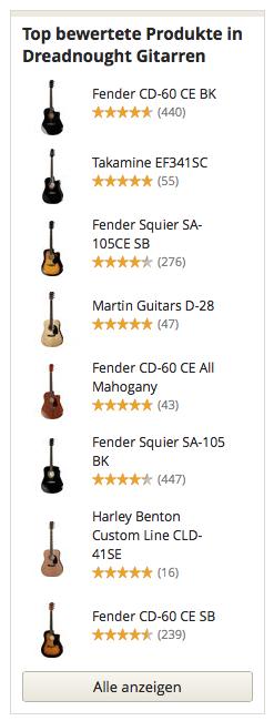 Top bewertete Dreadnought Gitarren Modelle