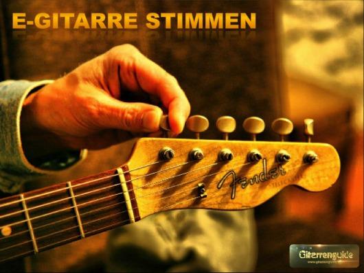 E-Gitarre stimmen