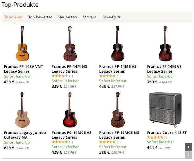 Framus Top Produkte
