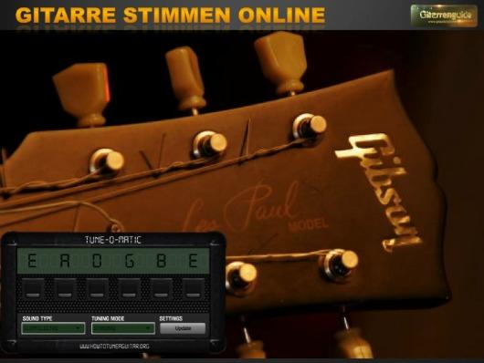 Gitarre stimmen online