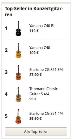 Topseller in Konzertgitarre