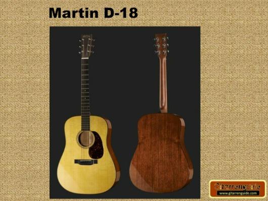Martin D18 Gitarre Vorder- und Rückseite