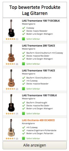 Top bewertete Produkte in Lag Gitarren
