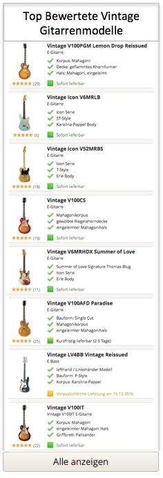 Top Vintage Gitarren