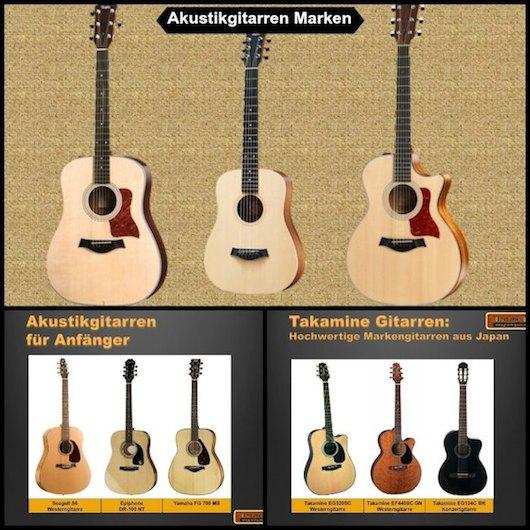 Akustikgitarre Marken