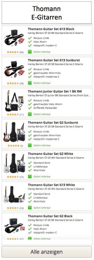 Thomann E-Gitarren