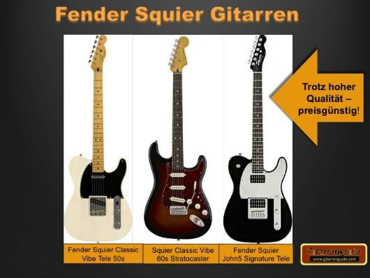 Fender Squier Gitarren