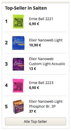 Top Seller in Gitarren Saiten