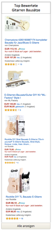 Top Gitarren Bausätze