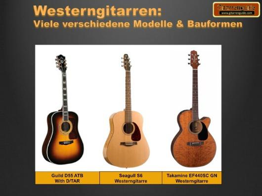 Westerngitarre: Akustik mit Stahlsaiten